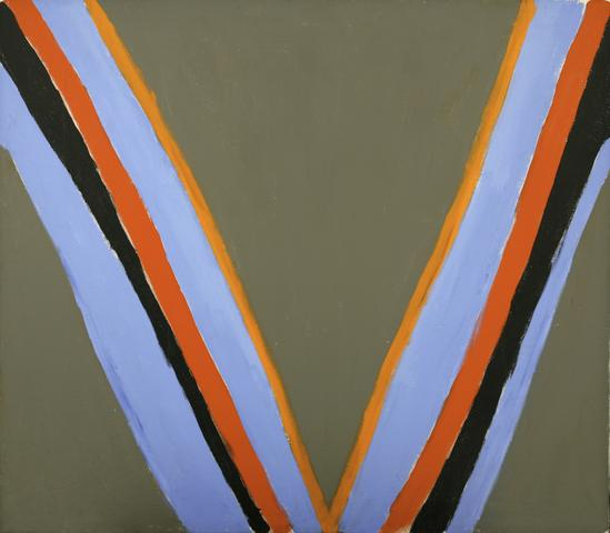 Victory (1967) Acrylic on canvas 41h x 47w in (104.1h x 119.4w cm)