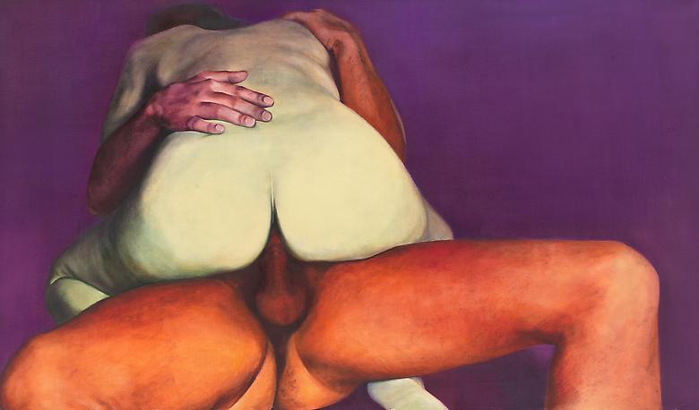 Purple Passion (1973) Oil on canvas 44h x 86w in (111.76h x 218.44w cm)