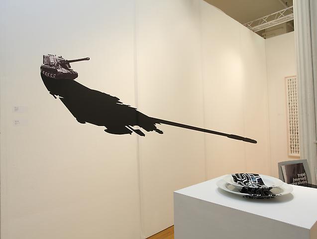 Pinta, 2009 Regina Silveira Booth installation