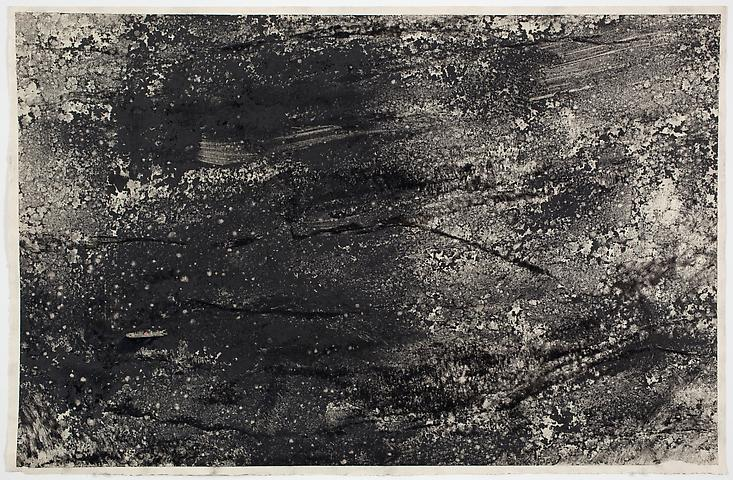 Dispersal #7 (1971) Dry pigment on paper 13h x 20w in (33.02h x 50.8w cm)