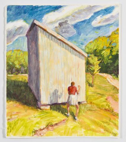 Shadow Box II (1991) Oil on gessoed paper 13h x 11.1w in (33h x 28.2w cm)
