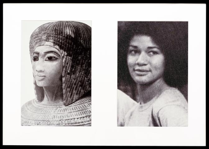 Miscegenated Family Album (Sisters II), L: Nefertiti's daughter Merytaten; R: Devonia's daughter  (1980/1994) Cibachrome prints, 26h x 37w in (66h x 94w cm) Edition of 8 with 1 AP