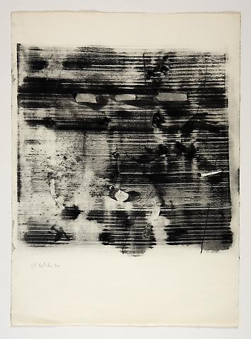 Study for Omalos #6 (1974) Toner on Paper 25.75h x 19w in (65.41h x 48.26w cm)