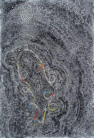 Jack Whitten, The Tenth Loop (2012) Acrylic on canvas 50h x 34w in (127h x 86.36w cm)