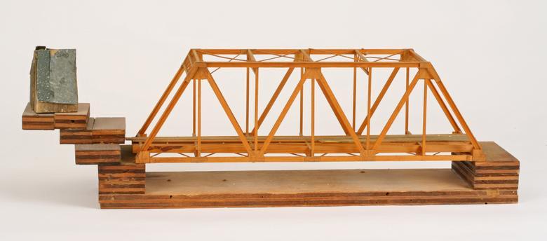 Siah Armajani, House After the Bridge (1974-75) Mixed media 7.25h x 24w x 5.2d in (18.4h x 61w x 13.2d cm)