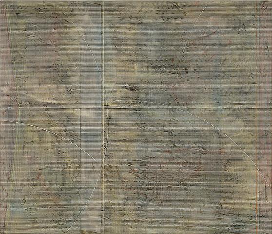 Jack Whitten Khee II (1978) Acrylic on canvas; 72h x 84w in (182.88h x 213.36w cm)