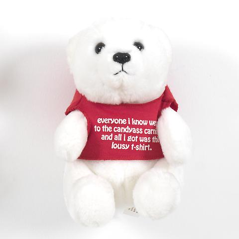 Bear (Red)  (1991) Stuffed toy bear  6.88h x 5.63w x 5d in (17.48h x 14.3w x 12.7d cm)
