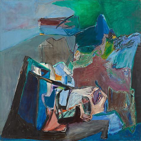 Joan Semmel Alborada (1968) Oil on linen; 70.9h x 70.9w in (180.1h x 180.1w cm)