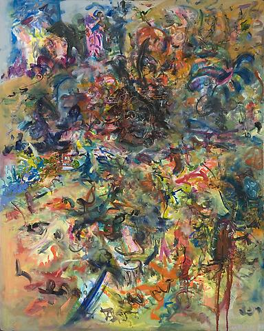 Martin Luther King's Garden  (1968) Oil on canvas 51.63h x 41.5w in (131.14h x 105.41w cm)