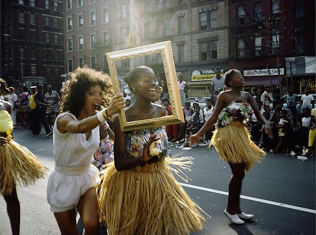 Art Is. . . (Dancer in Grass Skirt)  (1983/2009 ) C-print 16h x 20w in (40.64h x 50.8w cm)