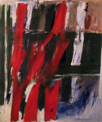 To Stefan Wolpe (1960) Oil on canvas, 89h x 75w in (226.1h x 190.5w cm) Collection Blanton Museum of Art, The University of Austin, TX