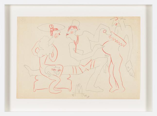 Untitled (1943) Colored pencil on paper 7.87h x 11.61w in (20h x 29.5w cm)