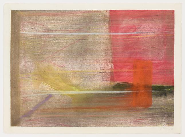 Untitled (1972) Pastel on paper 19.06h x 25.81w in (48.41h x 65.56w cm)