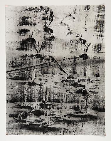 Broken Space II (1974) Toner on paper 22h x 17w in (55.88h x 43.18w cm)