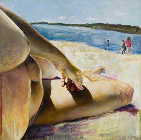 Beachbody (1985) Oil on canvas 68h x 68w in (172.7h x 172.7w cm)