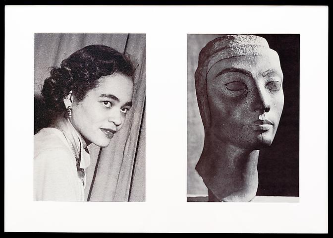 Miscegenated Family Album (Progress of Queens), L: Devonia, age 36; R: Nefertiti, age 36 (1980/1994) Cibachrome prints; 26h x 37w in (66.04h x 93.98w cm); Edition of 8 with 1 AP