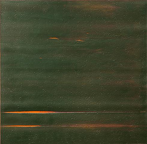 Fourth Testing (Slab) (1972) Acrylic on canvas 35.25h x 34.5w in (89.54h x 87.63w cm)