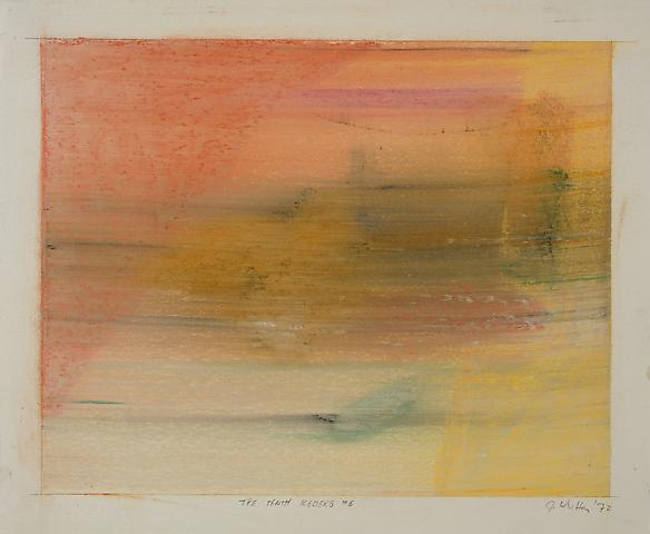 The Tenth Iceberg #5 (1972) Pastel on paper 13h x 16w in (33.02h x 40.64w cm)