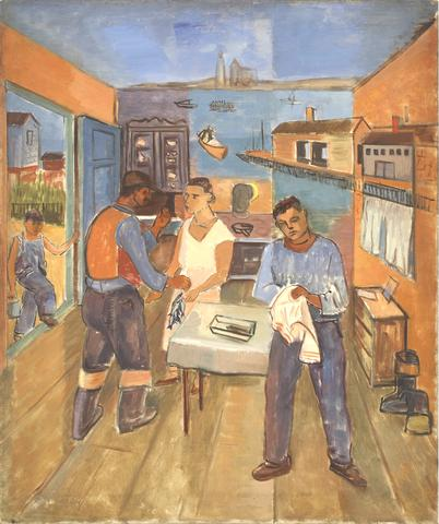 Fisherman's Family (1931) Oil on canvas  30h x 25w in (76.2h x 63.5w cm)