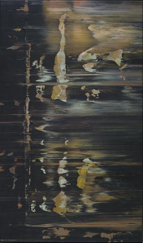 Lapsang (1974) Acrylic on canvas 40h x 67.5w in (101.6h x 171.5w cm)