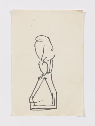 Studies for The Lifted X (c. 1965) Ink and graphite on paper 6h x 4w in (15.2h x 10.2w cm)