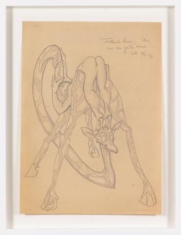 Untitled (1931) Graphite on paper 14.61h x 10.67w in (37.1h x 27.1w cm)