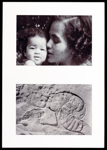Miscegenated Family Album (A Mother's Kiss), T: Candace and Devonia; B: Nefertiti and daughter  (1980/1994), cibachrome prints 37h x 26w in (94h x 66w cm), edition of 8 with 1 AP