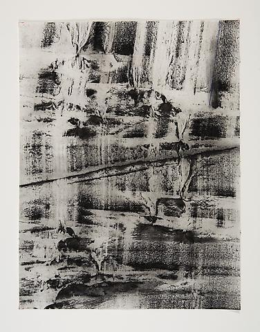 Broken Spaces I (1974) Toner on paper 17.13h x 20.13w in (43.51h x 51.13w cm)