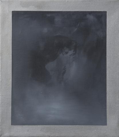 Head XI (1964) Acrylic on canvas 16h x 14w in (40.6h x 35.6w cm)