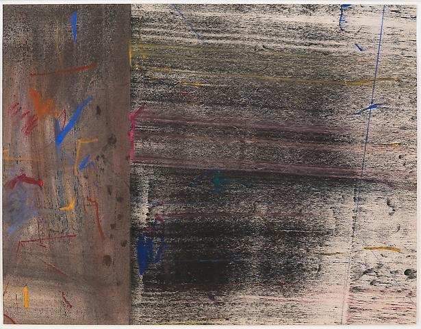 Untitled Study #2 (1972) Pastel and powdered pigment on paper 20h x 26w in (50.8h x 66.04w cm)