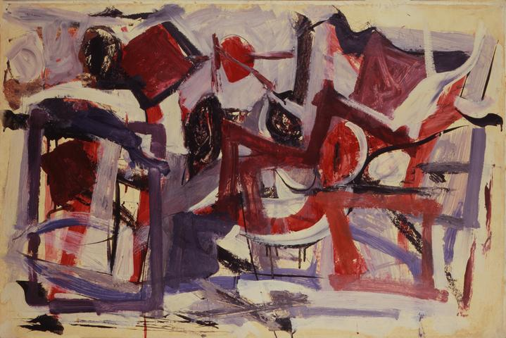 Christmas Morning (1951) Oil on paper mounted on masonite, 29.13h x 38.88w in (74h x 98.8w cm) Collection Newark Museum, NJ