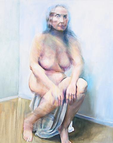 White Drape (2010) Oil on canvas 60h x 48w in (152.4h x 121.92w cm)