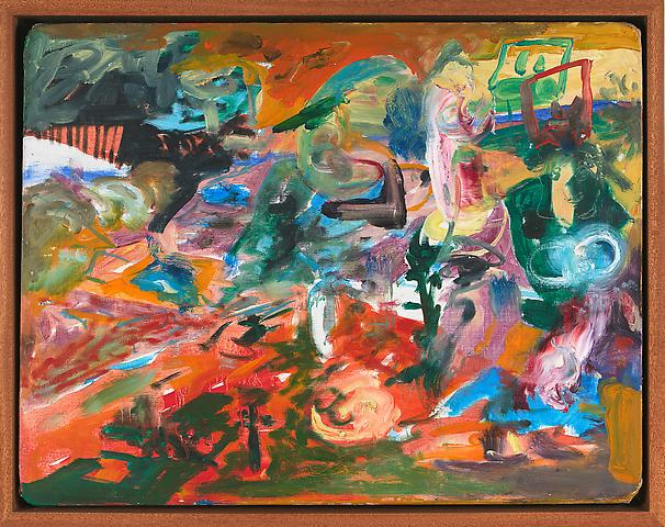 Funny Landscape III (1968) Oil on canvas 18h x 23w in (45.72h x 58.42w cm)