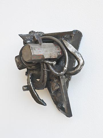 Art Education (2002) (From the series <i>Lynch Fragments</i>) Welded steel 10h x 8w x 6d in (25.4h x 20.32w x 15.24d cm)