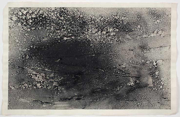 Dispersal #1 B (1971) Dry pigment on paper 13h x 20w in (33.02h x 50.8w cm)