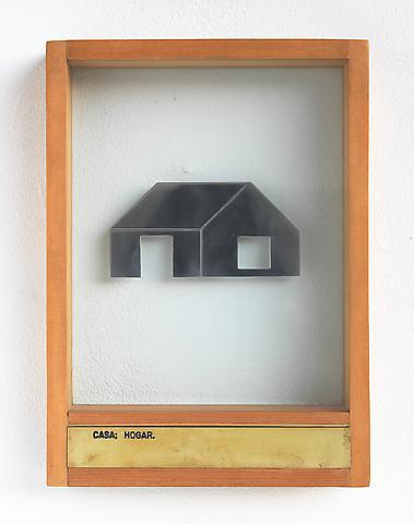 Luis Camnitzer Casa; Hogar (1973-1976); Mixed media 13.5h x 9.88w x 2d in (34.29h x 25.1w x 5.08d cm)
