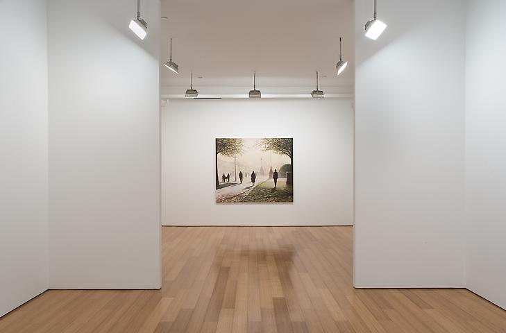 Lawrence Gipe One Picture and the Next Three (2007) Installation view; Alexander Gray Associates