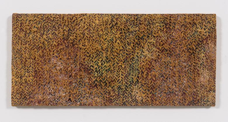 Yellowgrass (1975) Oil and Dorland's wax on canvas 11h x 24w in (27.9h x 61w cm)