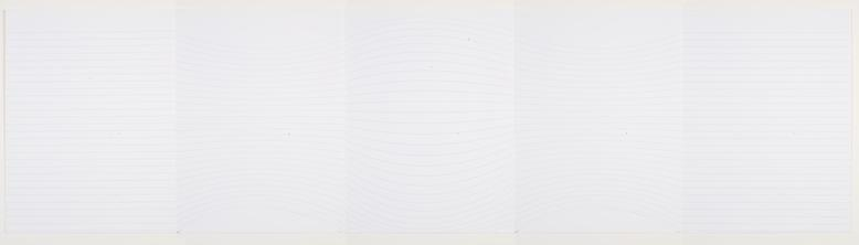 Notes to Myself (2008) Archival digital prints on paper in 5 parts 11h x 42.5w in (27.94h x 107.95w cm)