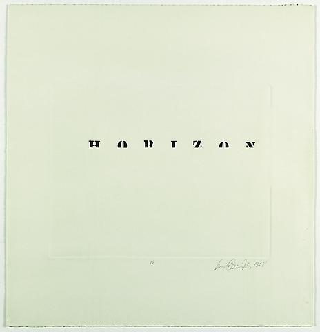 Luis Camnitzer; Horizon (1968) Etching; 25.98h x 24.8w in (65.99h x 62.99w cm) Intended edition of 50, executed edition of 10 with 1 AP