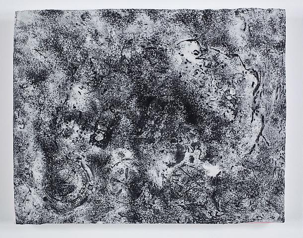 Virgin Space II (2011) Acrylic and volcanic ash on canvas 15.33h x 19.33w in (38.94h x 49.1w cm)
