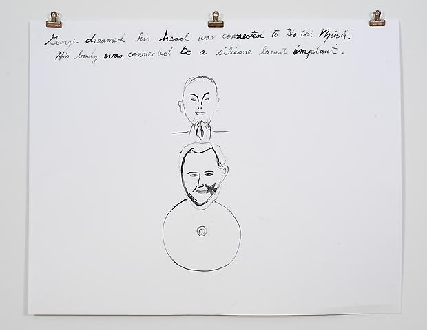 Laura Bush Dream Quartet-4 (2006) Ink on paper 19h x 42w in (48.26h x 106.68w cm)