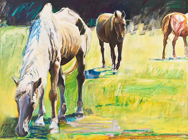 Pasture (1983) Oil on canvas 72h x 96w in (182.88h x 243.84w cm)