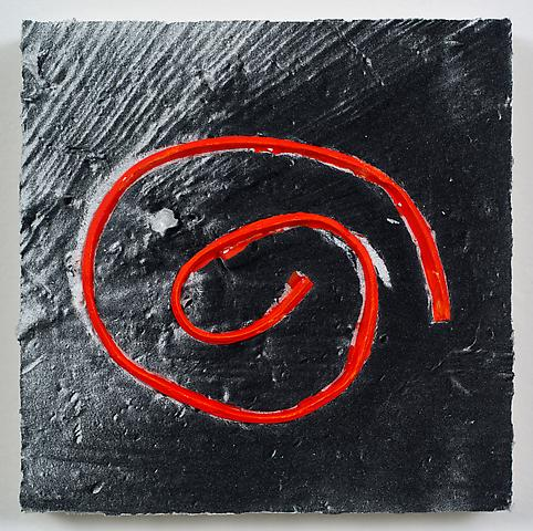 Loop #35 (Spiral) (2012) Acrylic On Masonite Panel 8h x 8w in (20.32h x 20.32w cm)