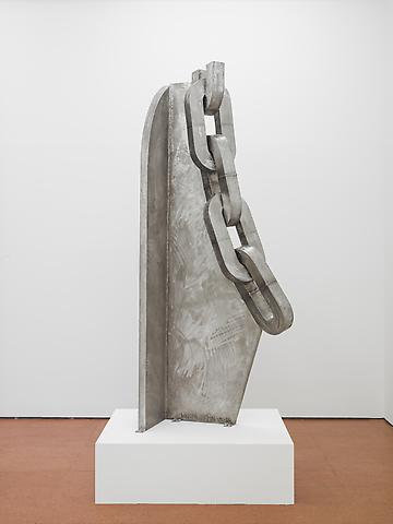 To Listen (1990) Stainless Steel 89.5h x 15.5w x 37d in (227.33h x 39.37w x 93.98d cm)