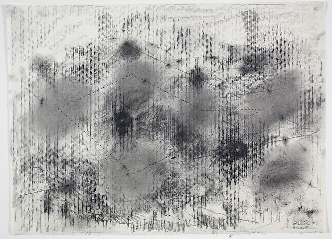 Radiator Drawing #3 (2010) Graphite on rice paper 19.5h x 27w in (49.53h x 68.58w cm)