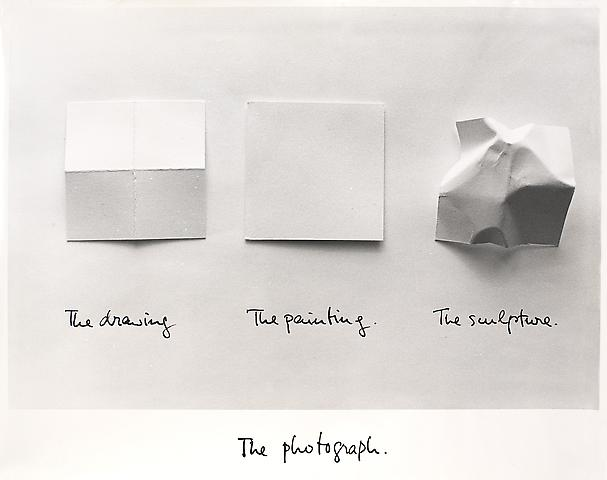 The Photograph  (1981) Black pen and b/w photograph, laminated 11h x 13.75w in (27.94h x 34.92w cm)