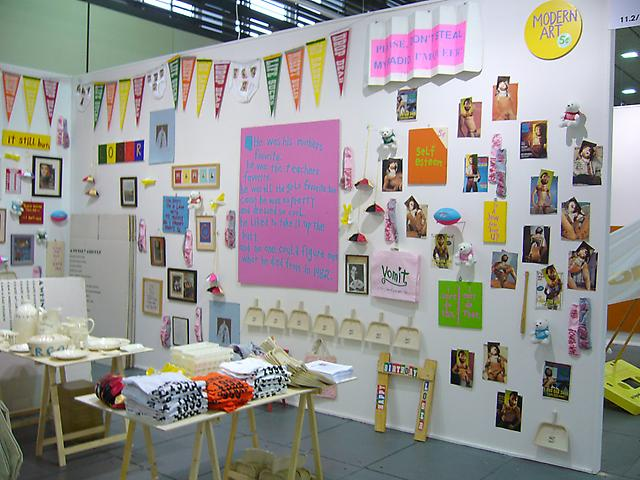 Art Forum Berlin, 2007 Cary Leibowitz Booth installation