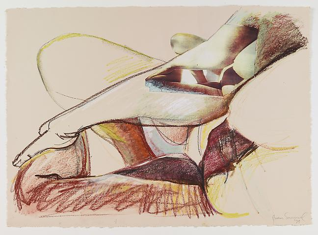Untitled (1979) Oil crayon and collage on paper 21.75h x 30.13w in (55.25h x 76.53w cm)