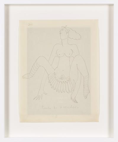 Untitled (c. 1931) Graphite on paper 10.91h x 8.39w in (27.7h x 21.3w cm)